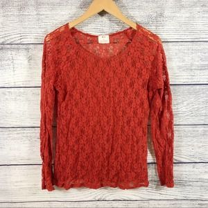 Anthropologie Pins and Needles lace long sleeve